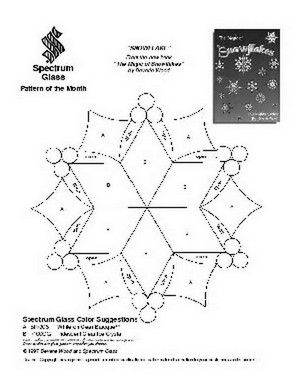 Free Stained Glass Pattern 2081-Snowflake