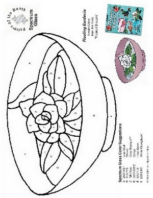 Free Stained Glass Pattern 2258-Floating Gardenia
