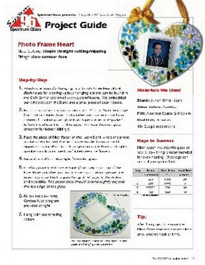 Free Stained Glass Pattern 2290-Photo Heart Frame