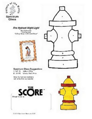 Free Stained Glass Pattern 2305-Fire Hydrant Night Light
