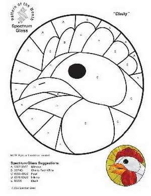 Free Stained Glass Pattern 2307-Clucky
