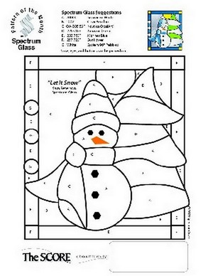 Free Stained Glass Pattern 2321-Let It Snow