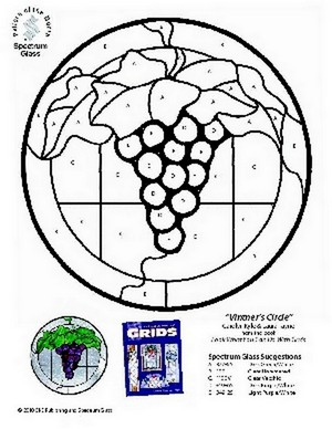 Free Stained Glass Pattern 2330-Vintners Circle