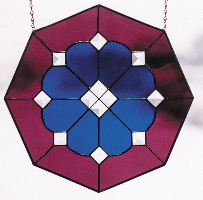 Free Stained Glass Pattern 3015 - Octagon with Bevels