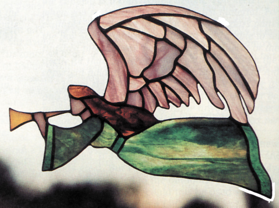 Free Stained Glass Pattern 3030 - Flying Angel