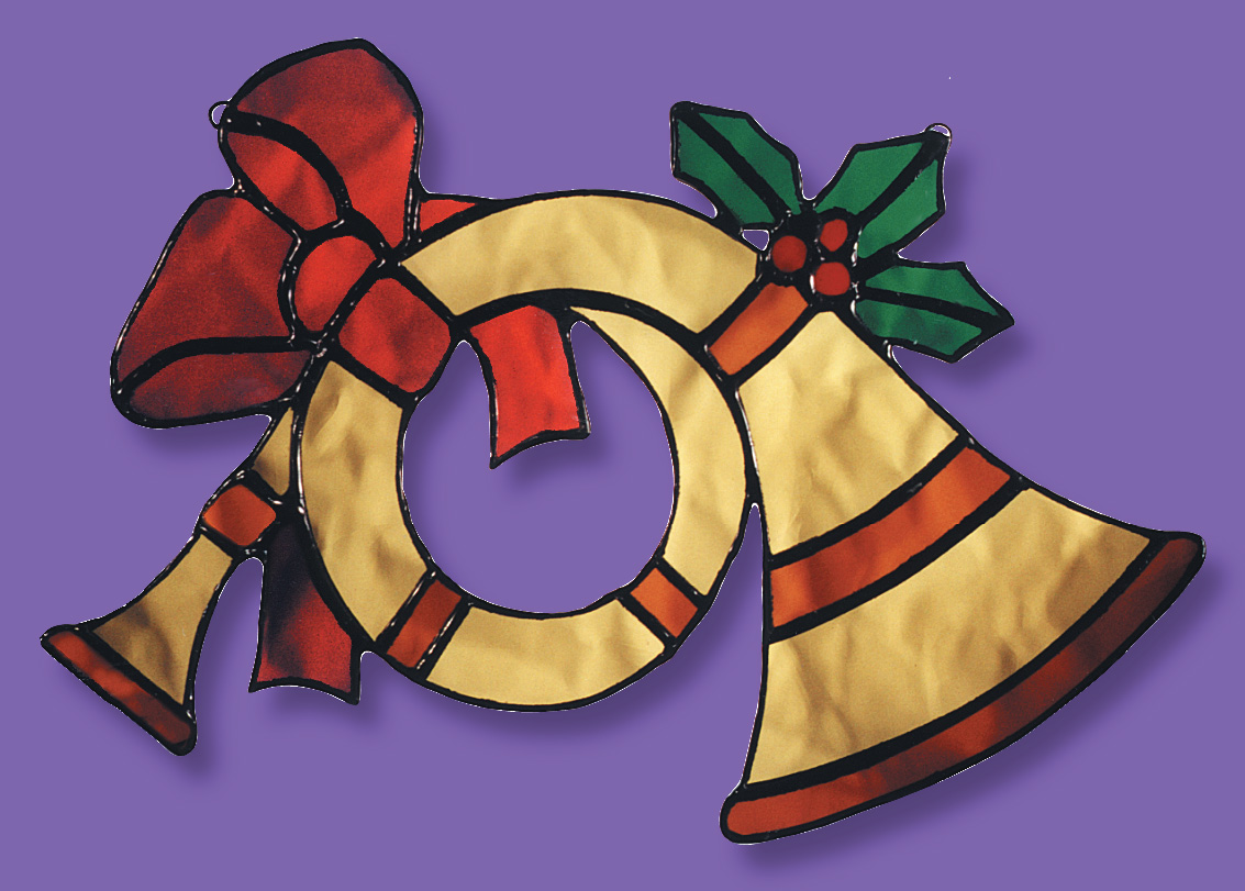 Free Stained Glass Pattern 3042 - Holiday Horn