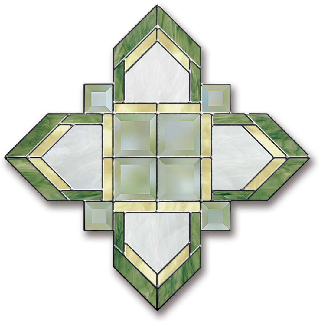 Free Stained Glass Pattern 3052 - Prairie Style Panel