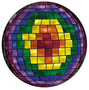 Free Stained Glass Pattern 3121 - Homage to Spectrum Glass