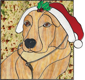 Free Stained Glass Pattern 3122 - Golden Holiday