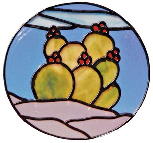 Free Stained Glass Pattern 3123 - Nopal Cactus