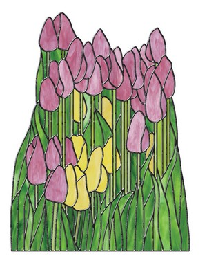 Free Stained Glass Pattern 3125 - Tulips