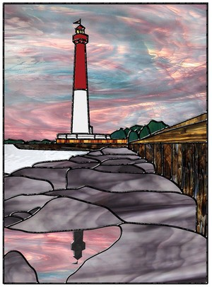 Free Stained Glass Pattern 3126 - Lighthouse