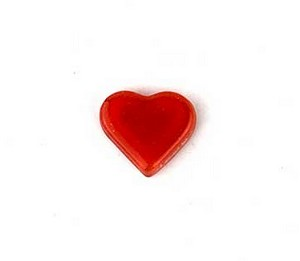(1161135) MOSAIC HEARTS 17.5X19.5MM RED (10)