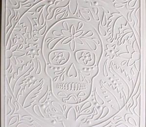 (48M825) DAY OF THE DEAD TEXTURE