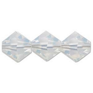 (H532806WHOP) 6MM WHITE OPAL BICONE