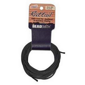 (HRTBK1-R) 2 MM RATTAIL BLACK