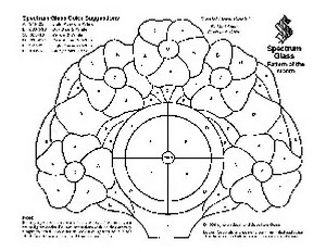Free Stained Glass Pattern 2002-Pastel Floral Clock