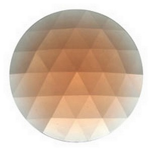 (33008) JEWEL-50mm ROUND-PEACH
