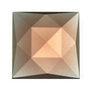 (34108) JEWEL-18mm SQUARE-PEACH