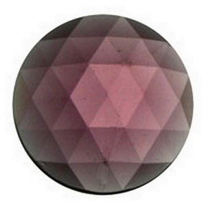 (3434) JEWEL-20mm ROUND-AMETHYST