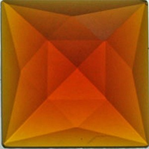 (34910) JEWEL-25mm SQ-LIGHT AMBER