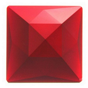 (3500) JEWEL-50mm SQUARE-RED