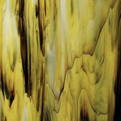 "ARMSTRONG OPAL YELLOW/BLACK STREAKY (Small 8"" x 12"")"